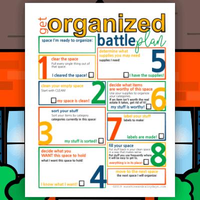 Get Organized Battle Plan Worksheet