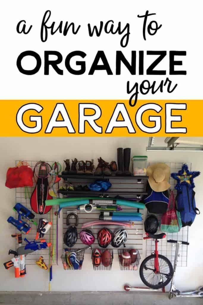 A garage wall organized in a fun way!
