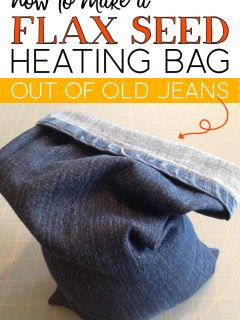 Flax Seed Heating Bag made out of old jeans.