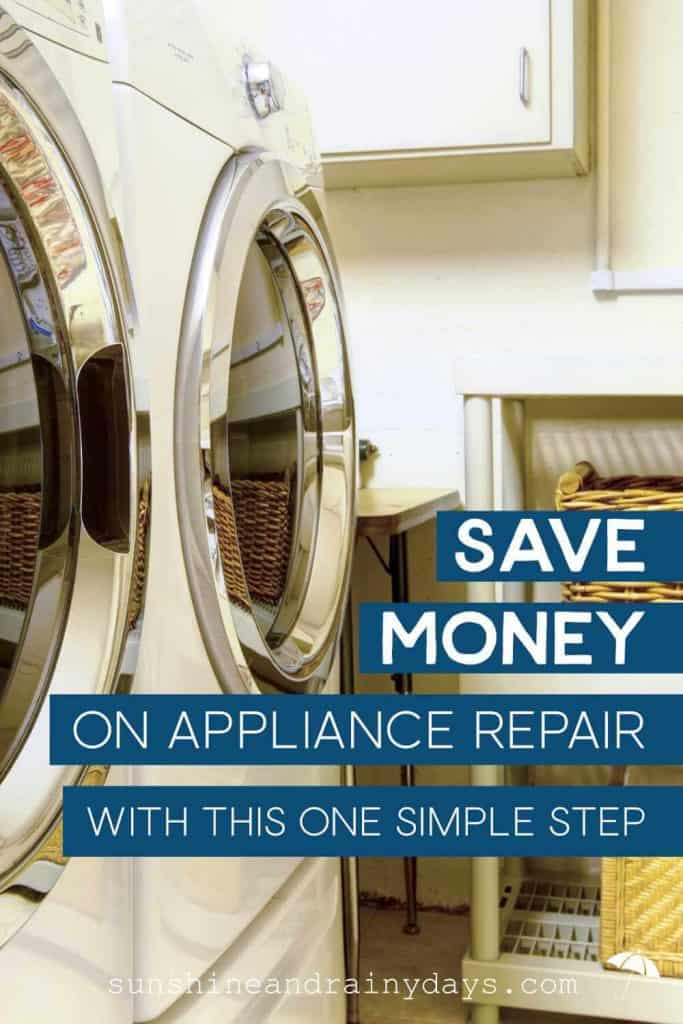 Save Money On Appliance Repair with this one simple step!