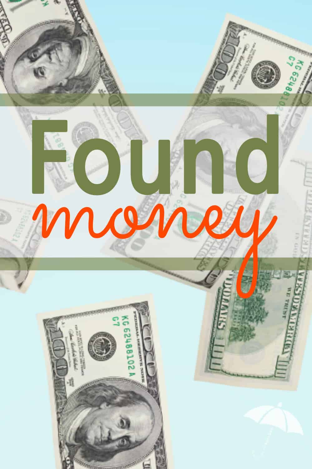 Hazel gasped and held up a wallet she was looking at in the shoe store. Inside was a crisp, $100 bill. It was found money! Exciting, right?