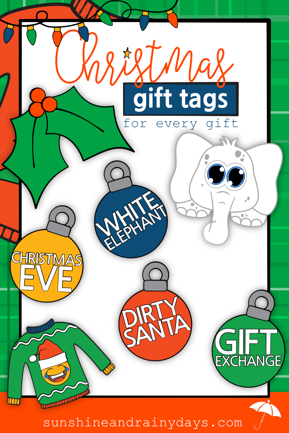 This post is for those of us looking for Christmas Gift Tags that are a step up from Sharpie on the back of the package or carefully folded and cut wrapping paper in the shape of a card. Remember that? Christmas Gift Tags Printable | #ChristmasGiftTags #SARD