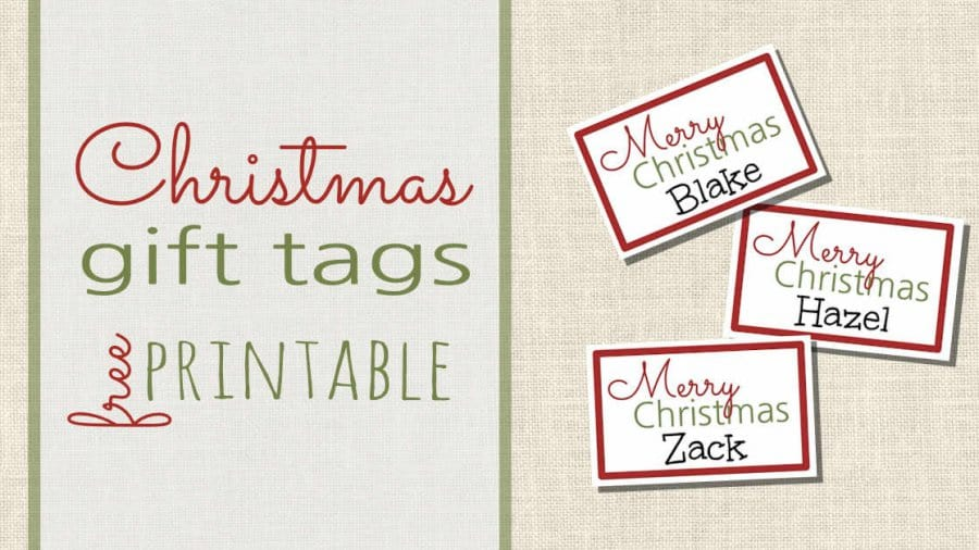 Free Printable Christmas Gift Tags Facebook