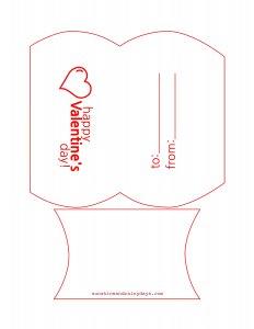 Printable Valentine Pillow Box