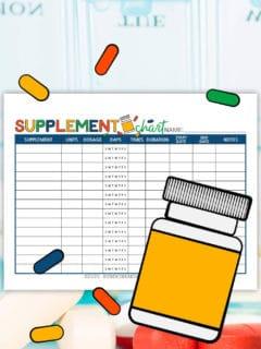 Supplement Chart Printable