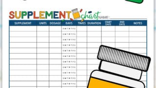 Supplement Chart Printable