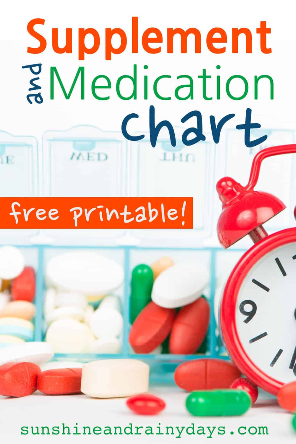 Sure I could make a list on plain Jane paper and list everything out but where's the fun in that? I decided to create my very own Supplement and Medication Chart Printable and, while I'm at it, I might as well make it fun enough to share with you!