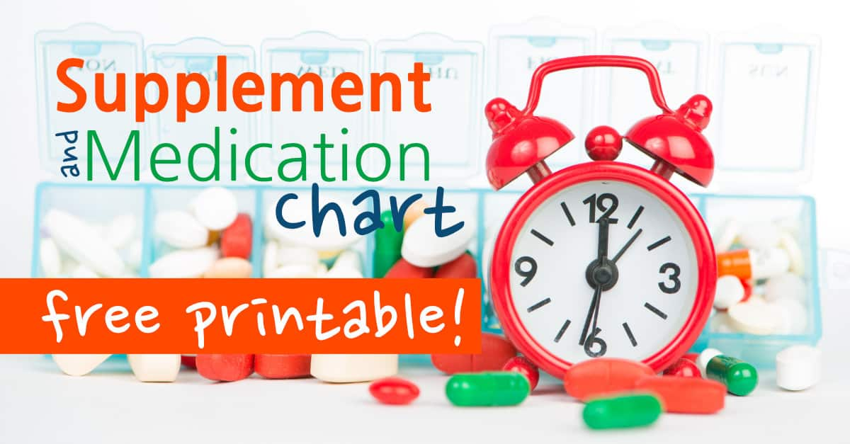 Supplement and Medication Chart Printable