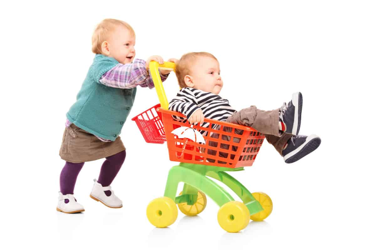 Toddler Pushing Cart