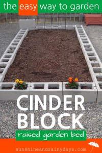 There's nothing like growing your own food! A Cinder Block Raised Garden Bed is easy to build and will give you years of use! Need a tomato? Go pick one! Green beans for dinner? You got that too! Cinder Block Raised Garden Bed | Cinder Block Garden | Raised Garden Beds | #raisedgardenbeds #raisedgarden #cinderblocks #SARD