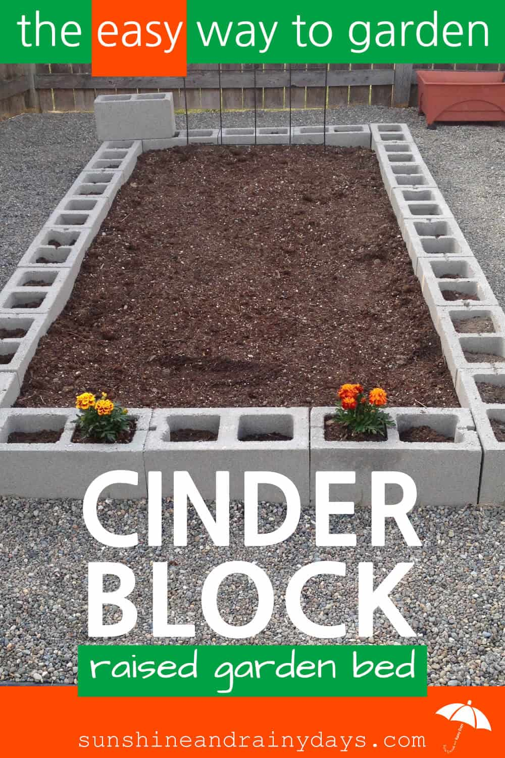 There's nothing like growing your own food! A Cinder Block Raised Garden Bed is easy to build and will give you years of use! Need a tomato? Go pick one! Green beans for dinner? You got that too! Cinder Block Raised Garden Bed   Cinder Block Garden   Raised Garden Beds   #raisedgardenbeds #raisedgarden #cinderblocks #SARD