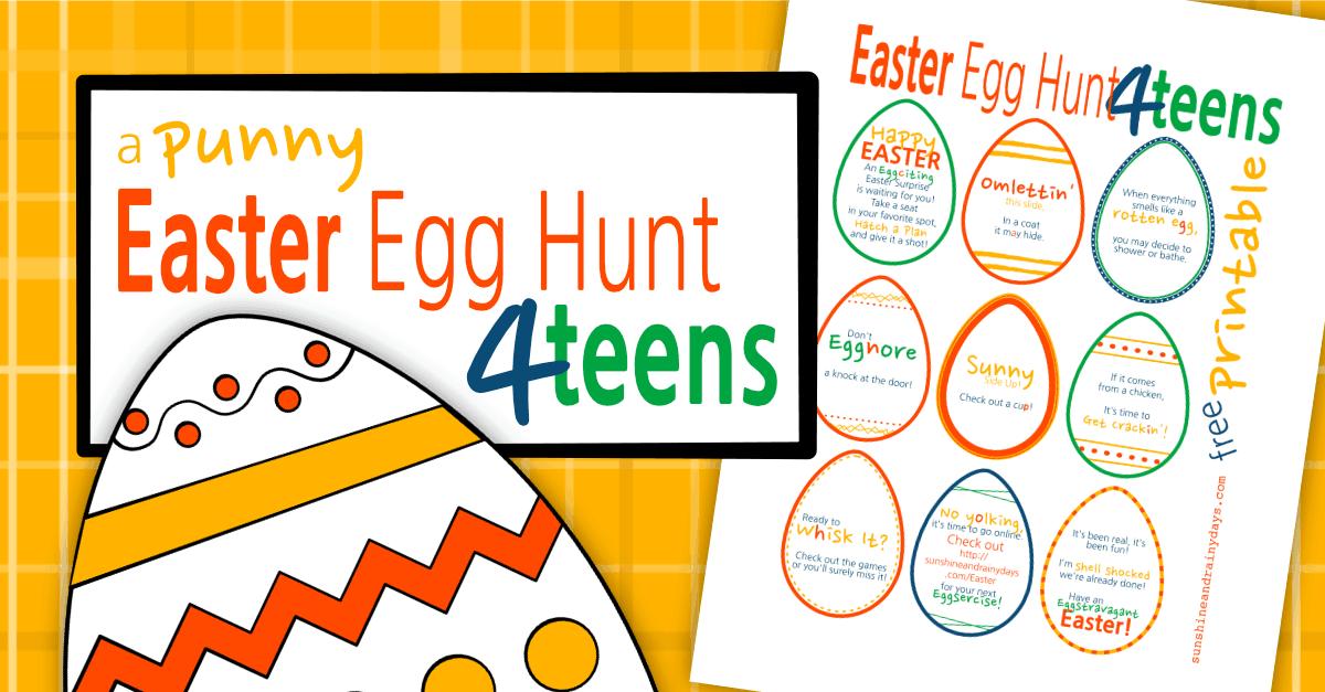 Easter Egg Hunt For Teens Printable