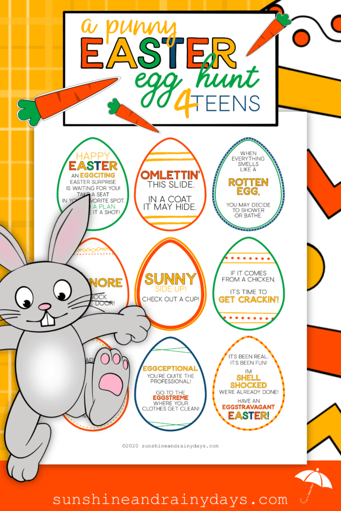 Easter Egg Hunt For Teens Printable