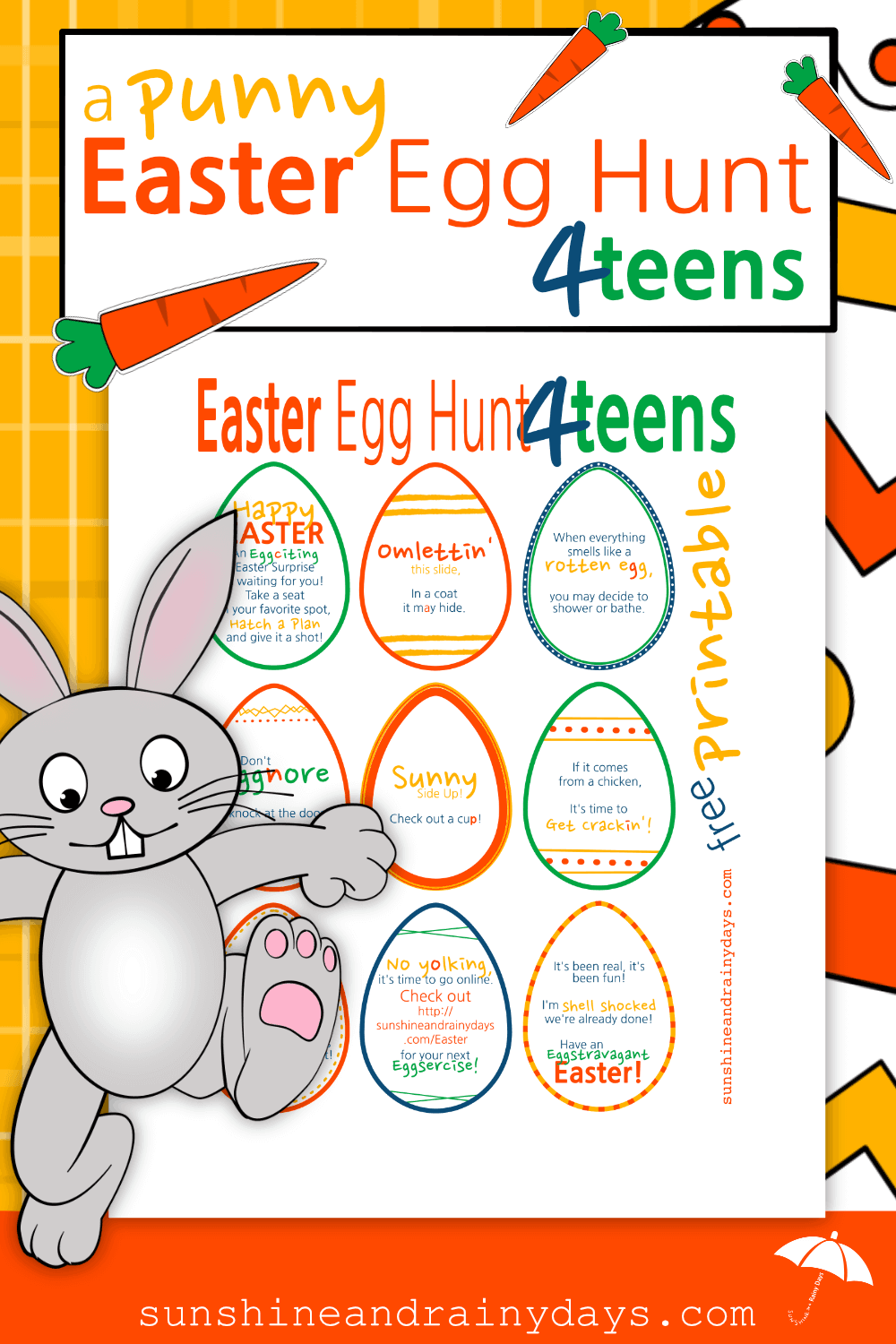 Use these Punny Easter Eggs for a FUN Easter Egg Hunt for Teenagers!