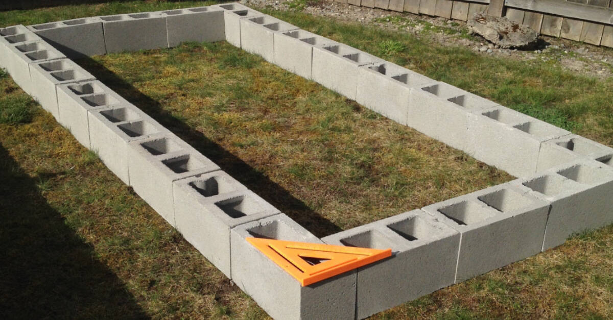 How To Build A Cinder Block Raised Garden Bed Sunshine And Rainy