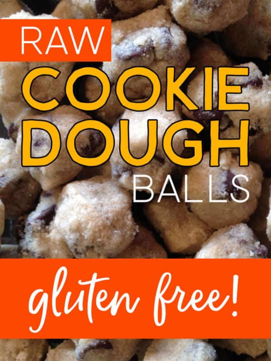 Raw cookie dough balls that are gluten free!