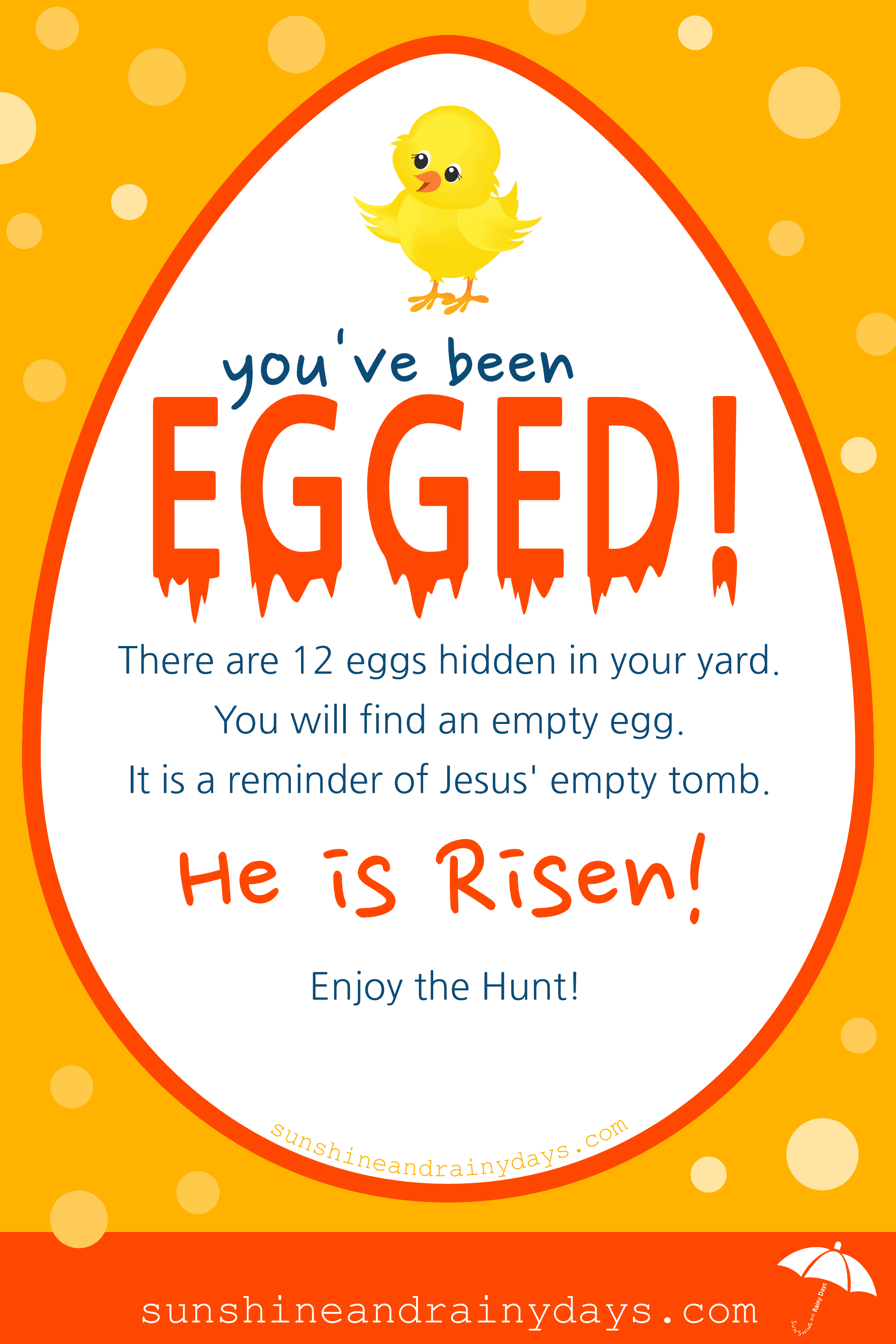 photo relating to You've Been Egged Printable referred to as Youve Been EGGED! -