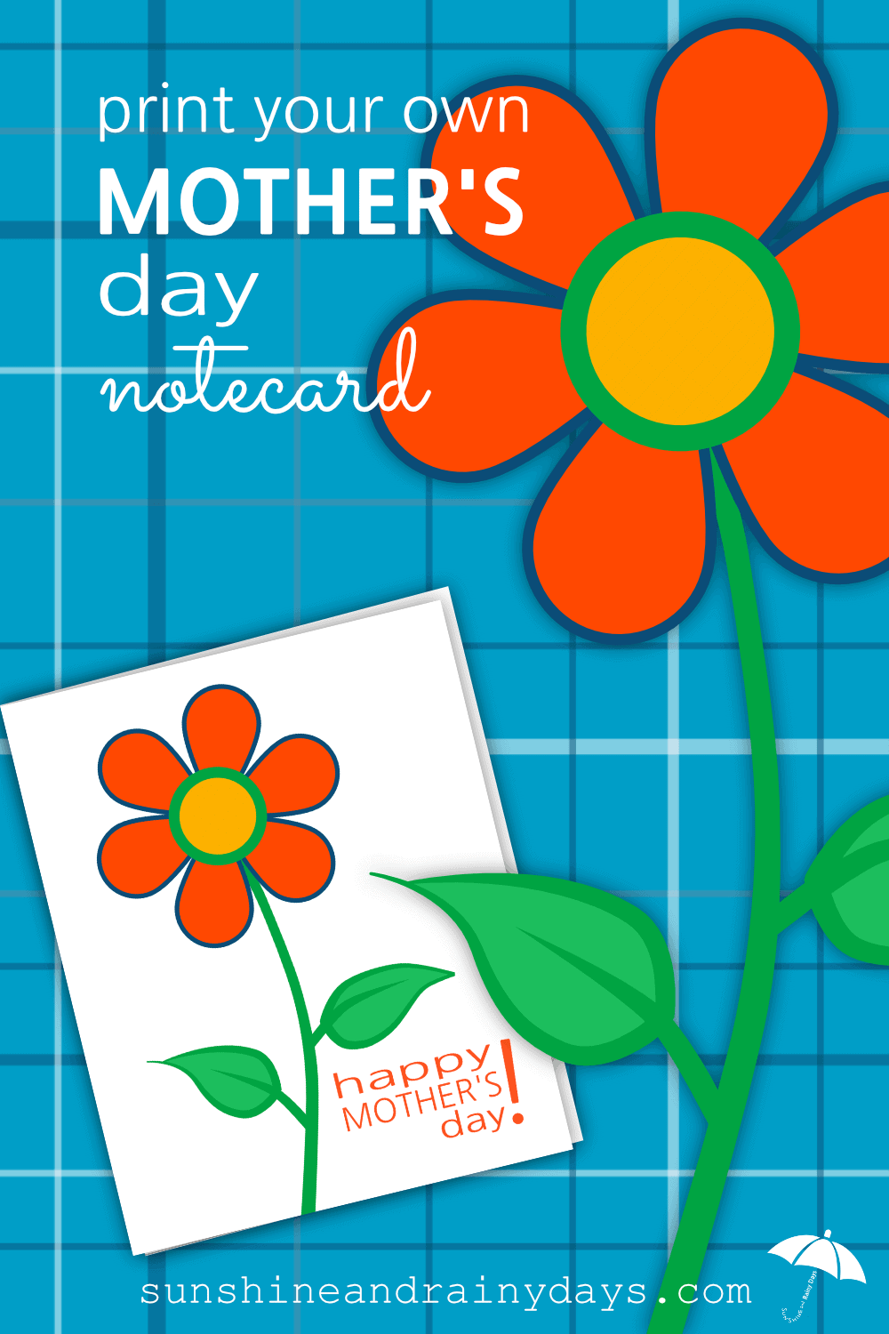 Do you want to spend your Mother's Day budget on the gift and not the card? You're in luck! We have created a Mother's Day FREE Printable Notecard just for you! Woot! Woot! #MothersDay #MothersDayNotecard #SARD #sunshineandrainydays