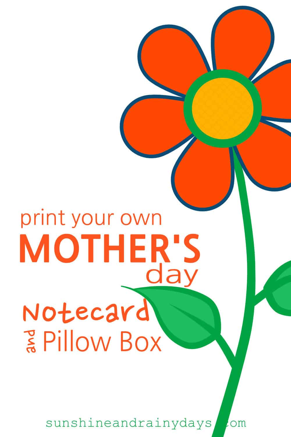 Do you want to spend your Mother's Day budget on the gift and not the card? You're in luck! Not only have we created a Mother's Day FREE Printable Notecard for you, but we have also created a Mother's Day FREE Printable Pillow Box! Woot! Woot!
