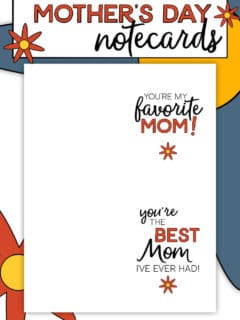 Mother's Day Notecards You Can Print At Home!