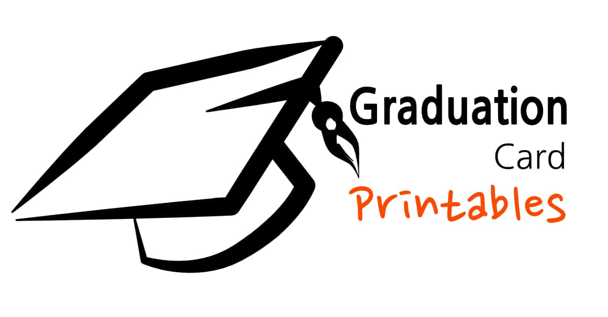 graphic about Printable Grad Cards named Commencement Card Printables -