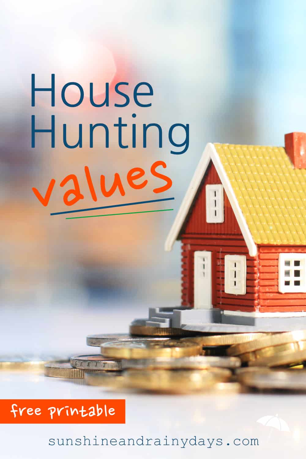 What do you value when house hunting? It's time to bring clarity! Use this printable to discover what you value most, as a family, when house hunting.