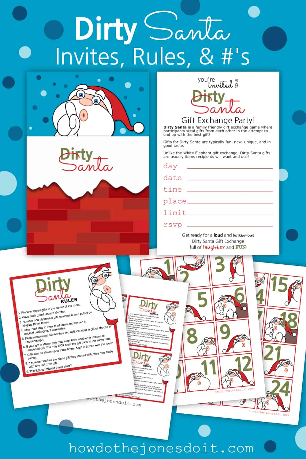 Dirty Santa Invites