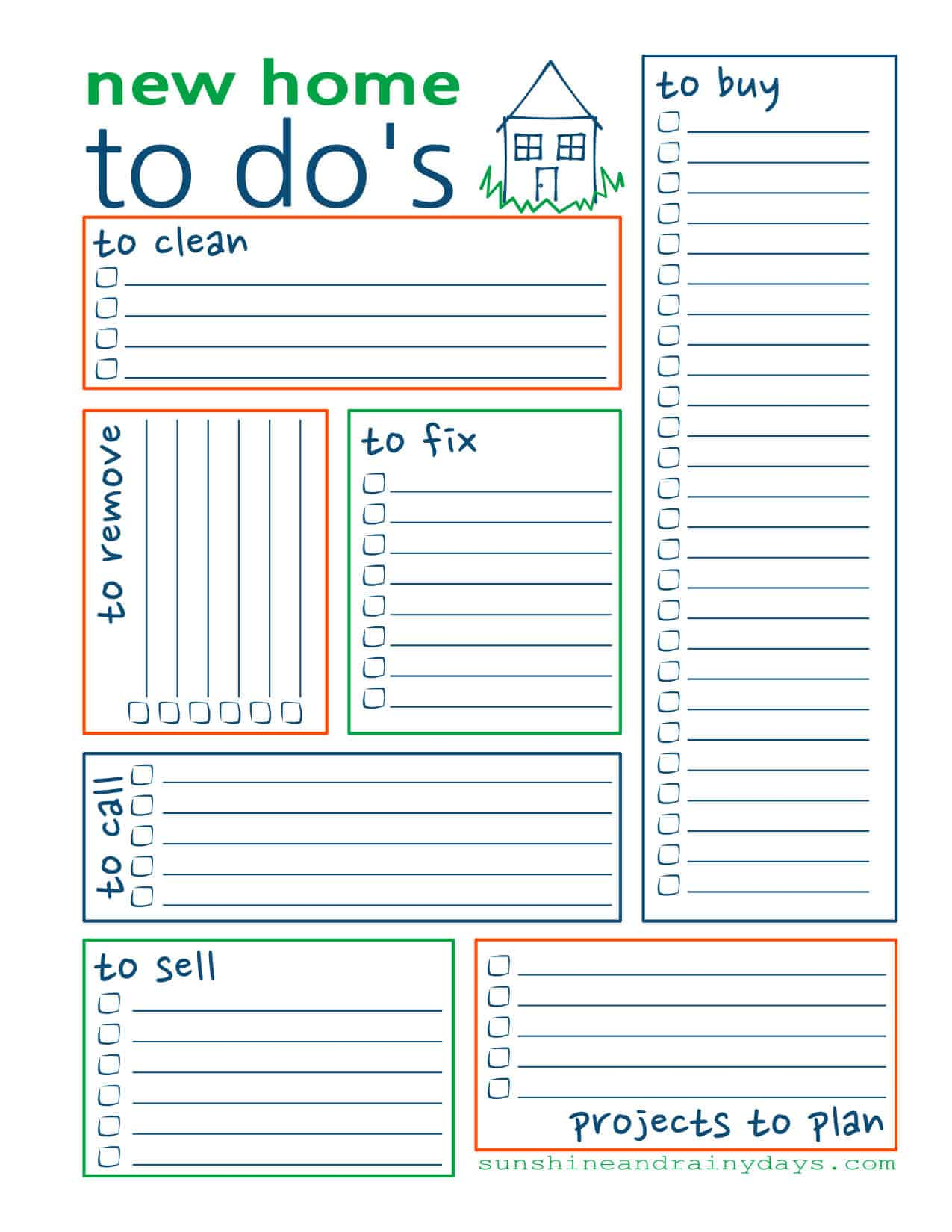 picture relating to Free to Do List Printables named Contemporary Household Towards Do Record - No cost Printable -