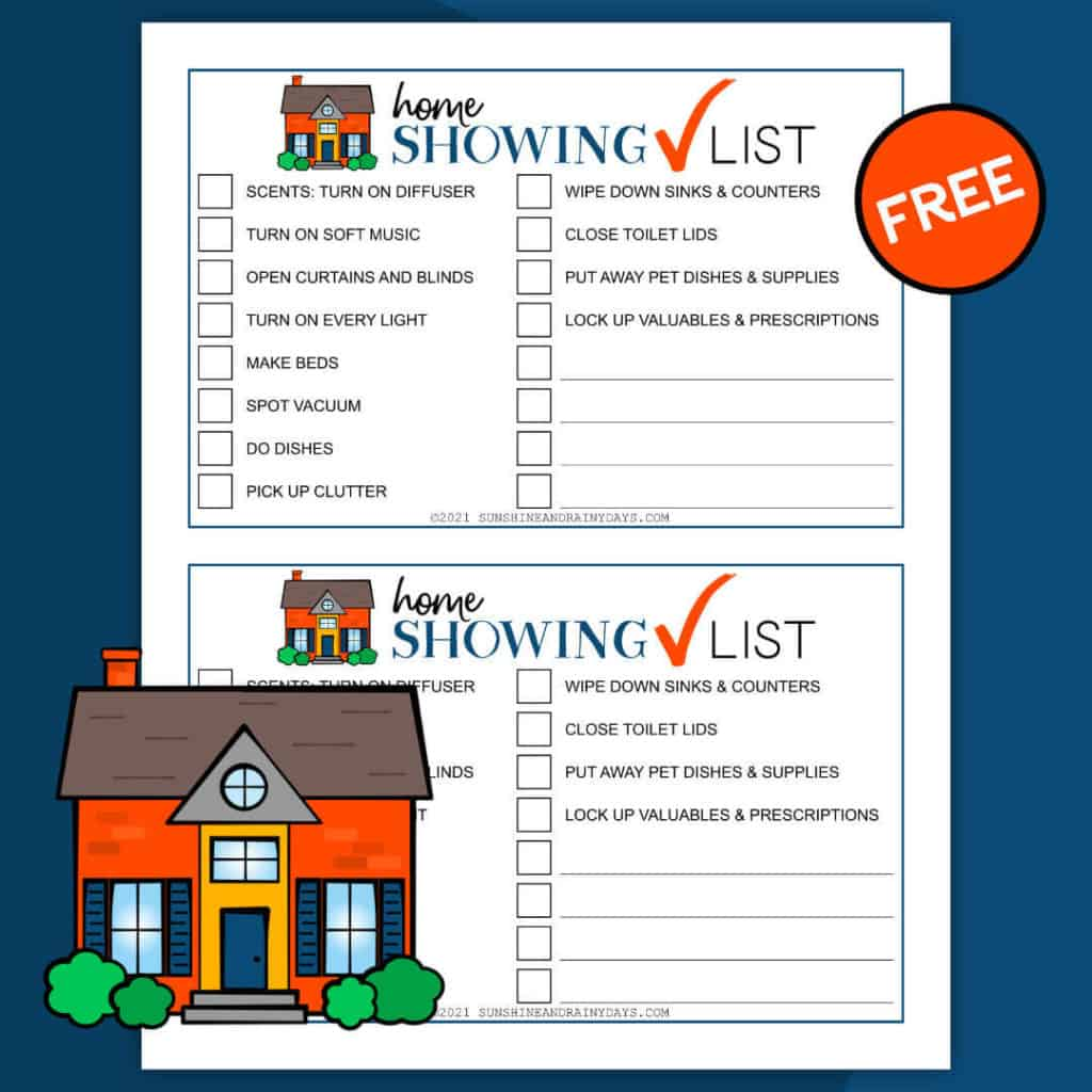 Home Showing Checklist Printable