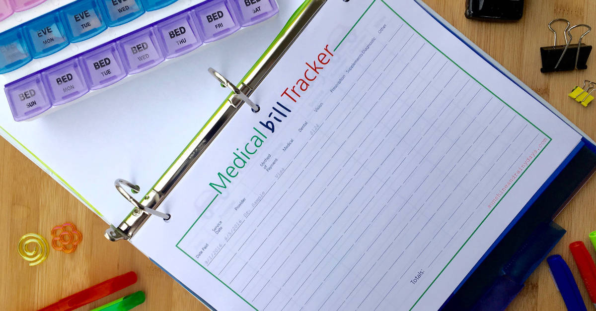 medical binder printables digital downloads