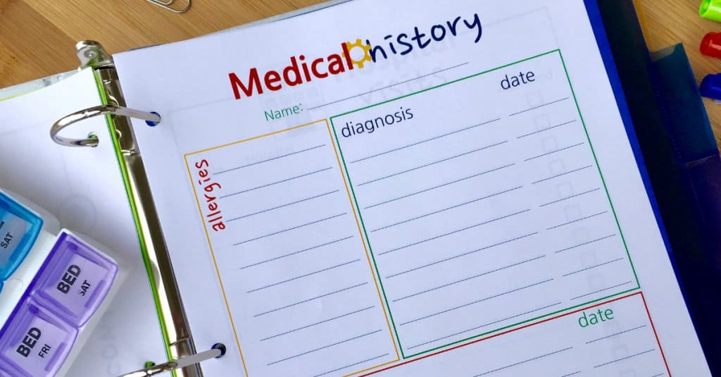 Medical History Layout