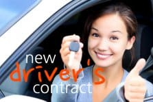 New Driver's Contract Free Printable