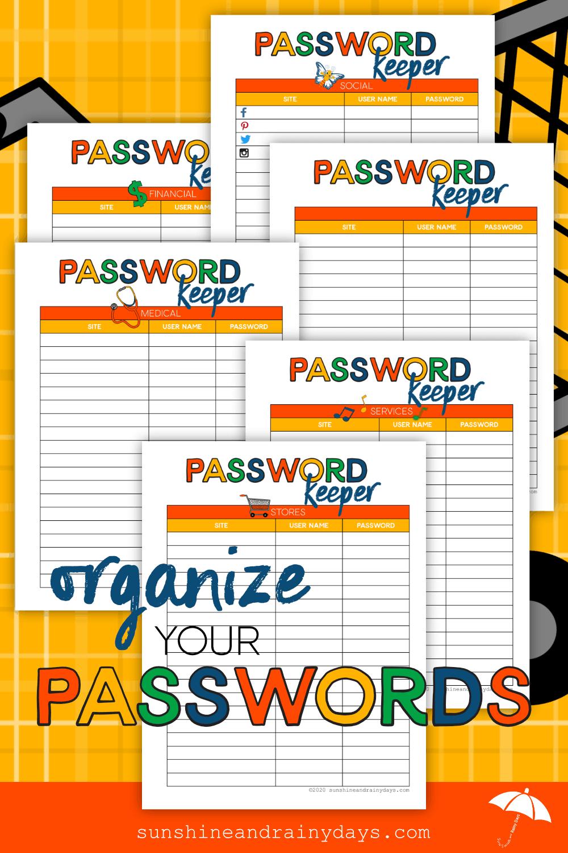 Password Keeper Printables