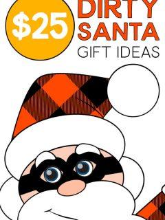 Santa sharing $25 Dirty Santa Gift Ideas