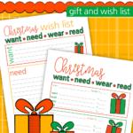 Want Need Wear Read Wish List