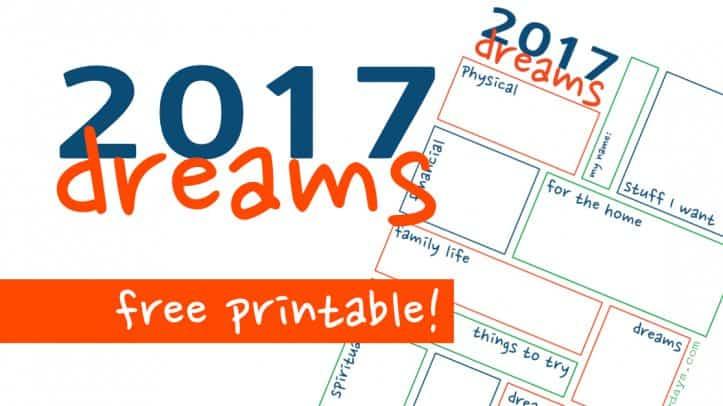 2017 Dream Sheet
