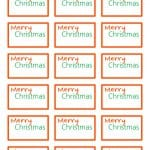 Looking for an easy way to put names on your Christmas gifts? This Merry Christmas Gift Tag Printable will have you tagging gifts quick!