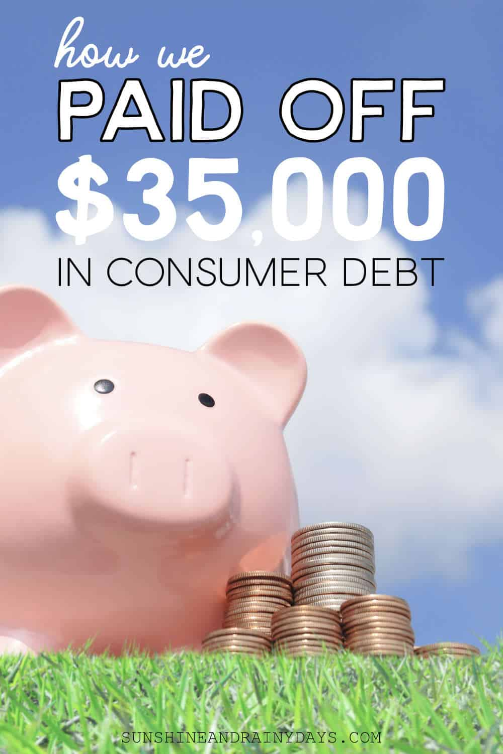We cheated! Yep! We got drastic and paid off $35,000 in consumer debt in just ONE DAY. We didn't toil away and apply the snowball or avalanche method or spend years working away at it. I applaud those that do pay off debt that way.