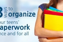 3 Ways To Organize Teens' Paperwork Once And For All