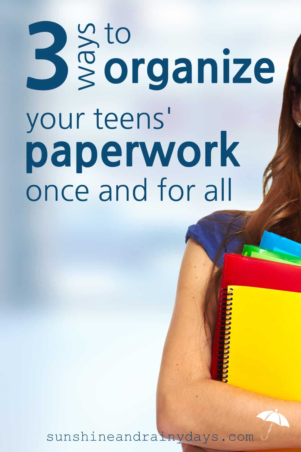 Papers, papers, everywhere! Piled up on the counter, shoved in the drawer, stuffed in backpacks, and even on the floor! How do we organize our teens' paperwork to set them up for future success?