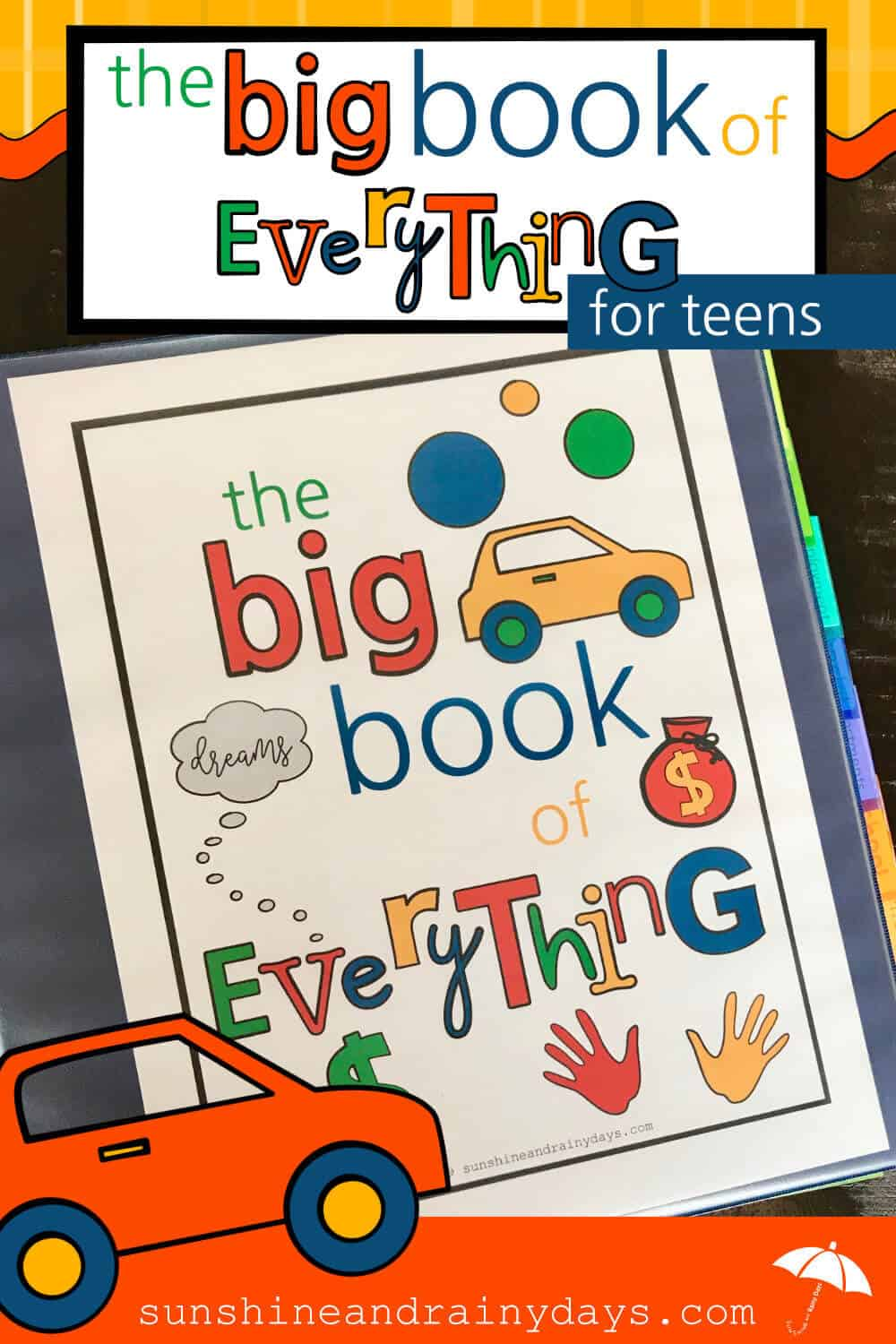 The Big Book Of Everything keeps you organized!