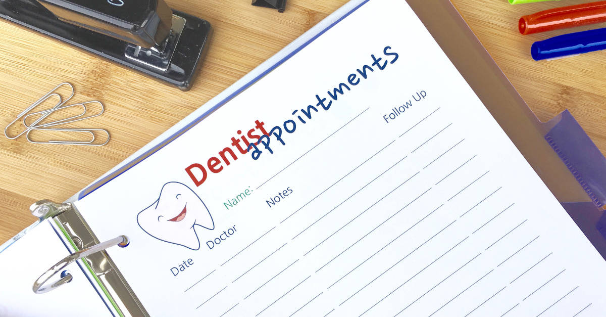 Dentist Appointments Printable