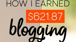 Laptop computer with the words: How I Earned $621.87 Blogging February 2017