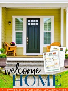 Welcome home letter to the new homeowner.