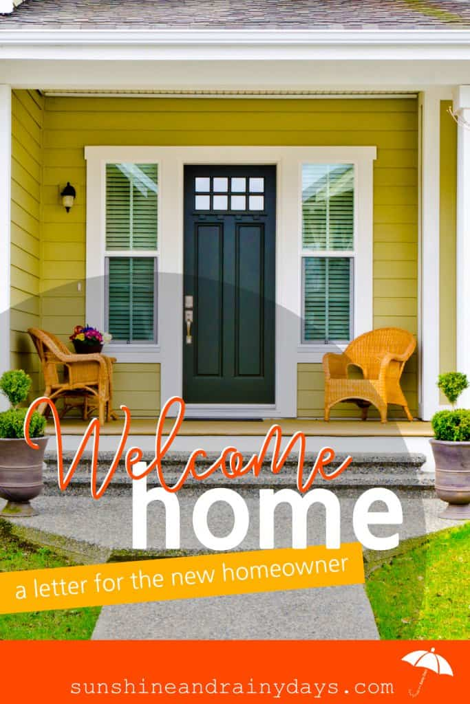 Use this Welcome Home Letter to New Homeowners Printable to give buyers a glimpse of their new home's history, important info, and who has lived there!