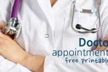Doctor Appointments Free Printable – Log Your Doctor Visits