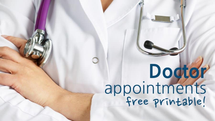 Doctor Appointments Free Printable