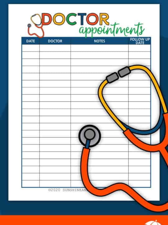 Doctor Appointments - Free Printable