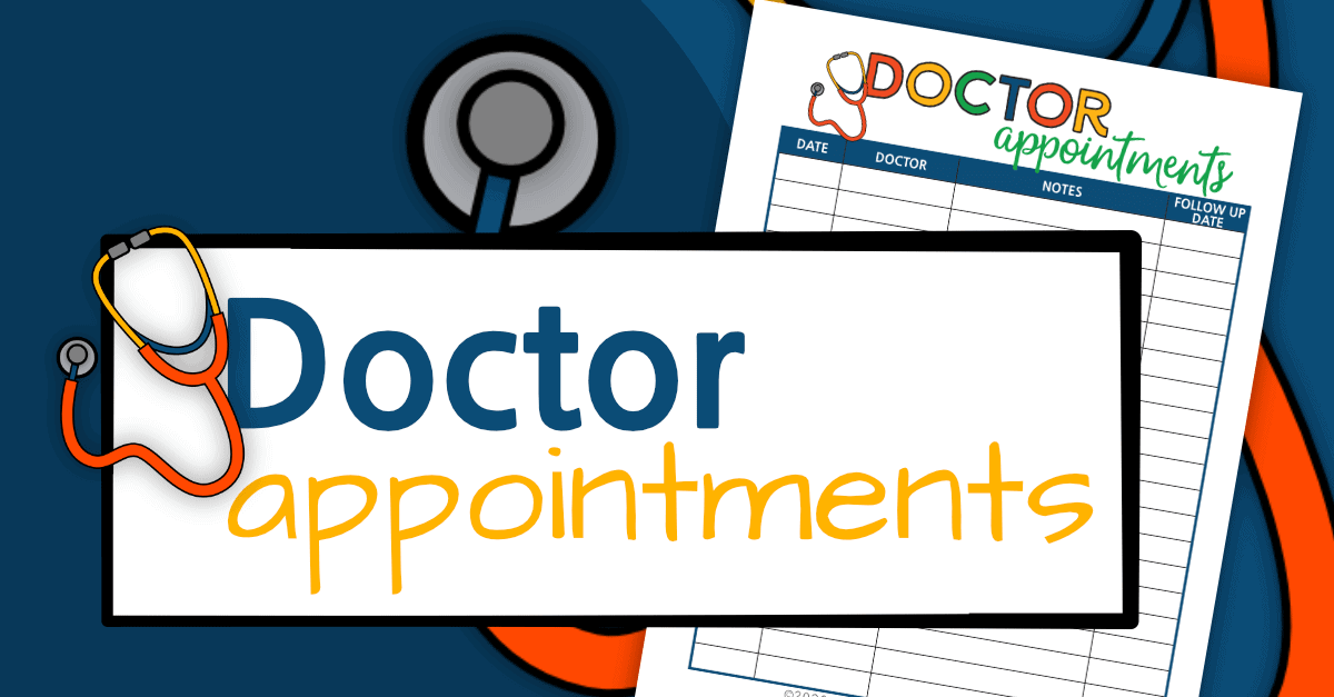 Doctor Appointments Printable