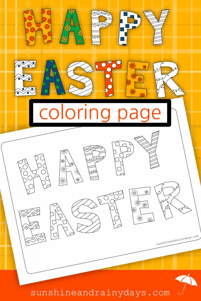 The Happy Easter Coloring Page is here to help you Celebrate Easter!